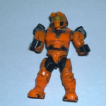 Mega Bloks Halo orange spartan with backpack figure